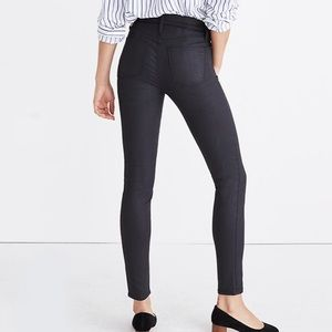 """Madewell 9"""" High Rise Skinny Jeans Coated Edition"""